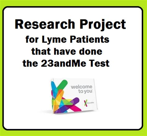 Research Project for Lyme Patients that have done the 23