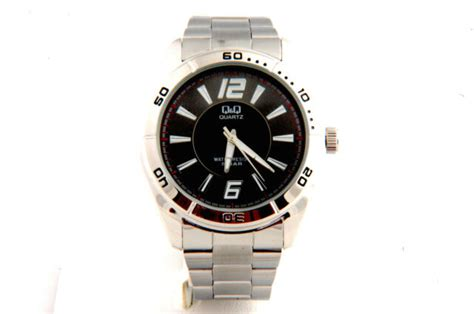 Sport Watch Black Dial & Stainless Steel Band 5 Bar Water