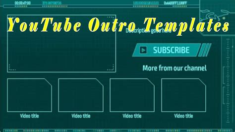YouTube Outro Template - Best YouTube Outro Maker - YouTube