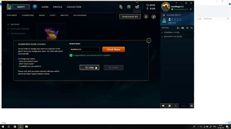 How To Change Your Summoner Name In League Of Legends