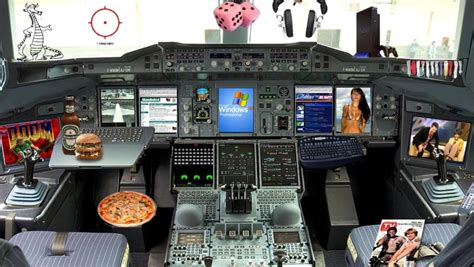 New A320 Airbus cockpit design (humorously)   ZDNet