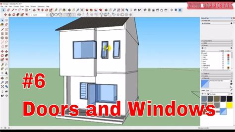 SketchUp Tutorial   Create 3D Model Town House - Doors and