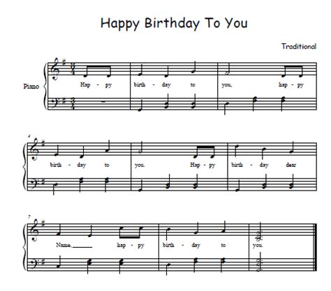 Happy Birthday Song Sheet Music for Free!