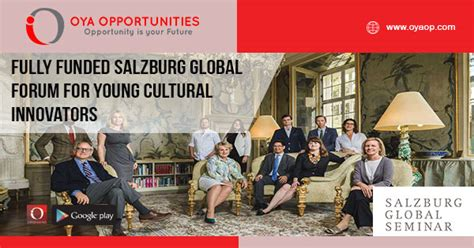 Fully Funded Salzburg Global Forum for Young Cultural