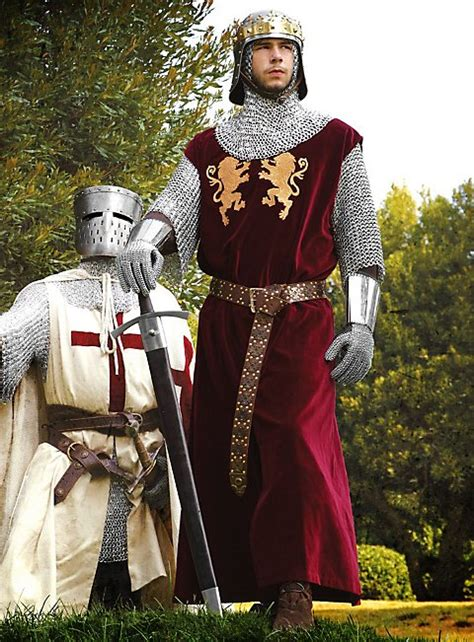 Red Surcoat with Golden Lions
