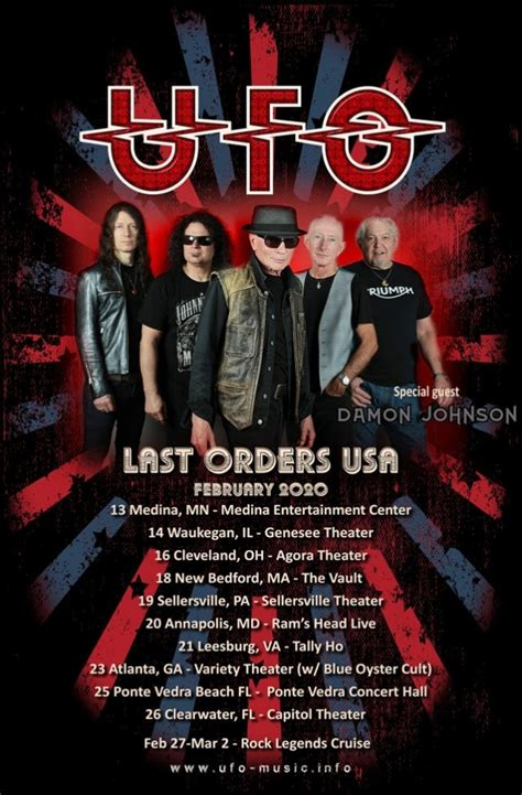 Ufo To Continue 'Last Orders' Tour In 2020 - Blabbermouth