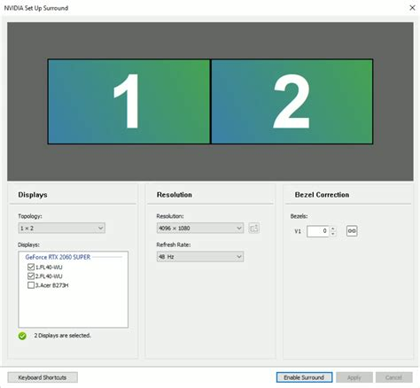 Configuring Nvidia Surround/Mosaic with SimVisuals 2