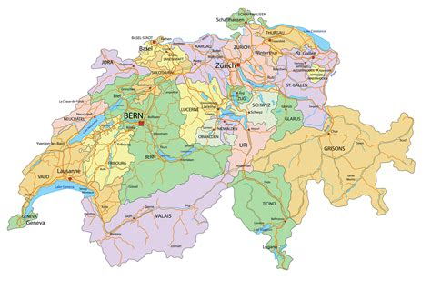 Switzerland Map - Guide of the World