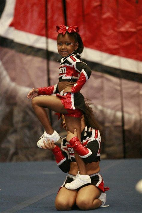 Progression Stunting Tiny Mite | Cheer routines, Youth