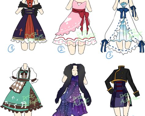 Gown Clipart Anime Dress - Anime Clothes Drawing
