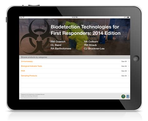 First responders get mobile app for biodetection