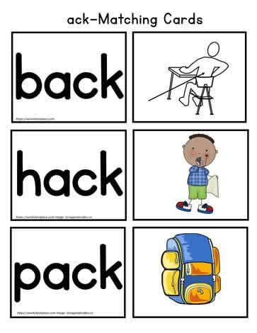 ack Vocabulary Cards Worksheets