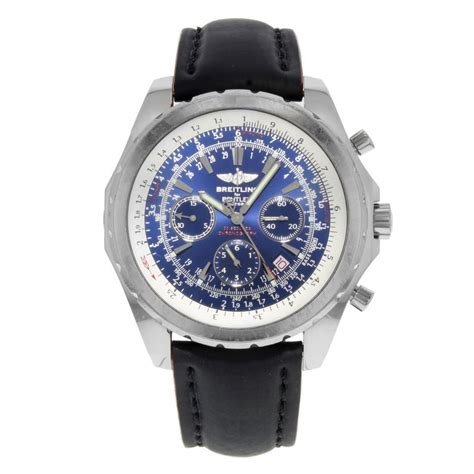 Breitling Bentley A25362 Blue Dial Chronograph Steel