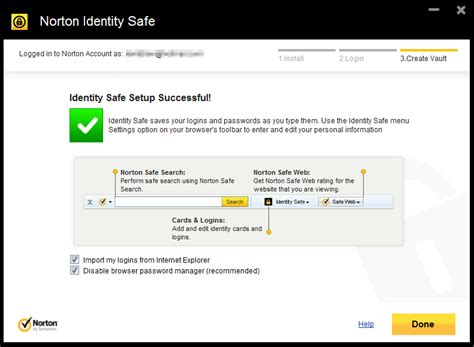 Norton Identity Safe, A Cloud Based Password Manager for
