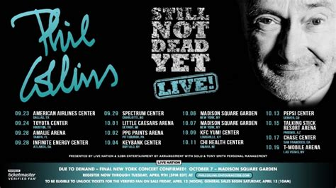 Phil Collins expands 'Still Not Dead Yet' tour, adds 2nd