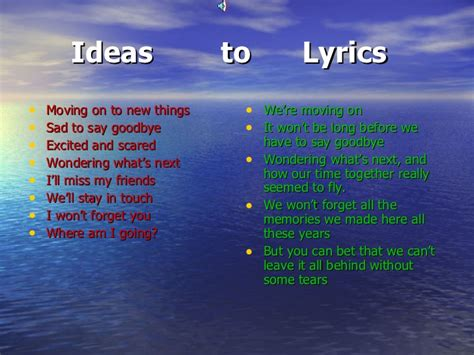 Power point on songwriting