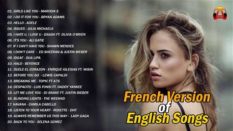 French Version of English Songs - Chansons 2020 Nouveauté