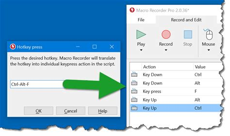 Macro Recorder - Mouse & keyboard actions