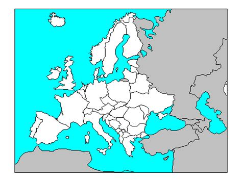 Blank Map Of Europe For Quiz