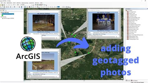 geotagged photos to map in ArcGIS - YouTube