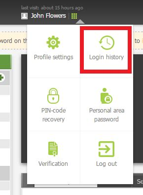 How to logout from FBS's Personal Area(client portal