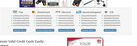 Fake Credit Card With Expiration Date And Security Code