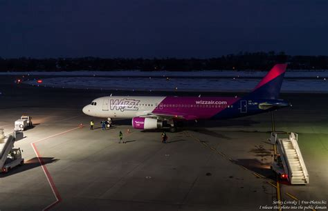 Photo of a Wizz Air airplane in Lviv airport, Ukraine, in