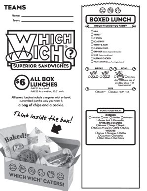 Which Wich Menu Pdf - Fill Online, Printable, Fillable