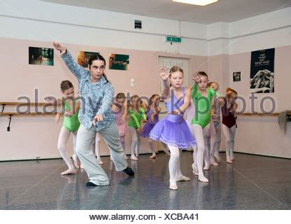 Duisburg, Germany, girls during the ballet rehearsal at