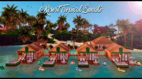 Resort Tropical Sulani (No CC)   The Sims 4   Speed Build
